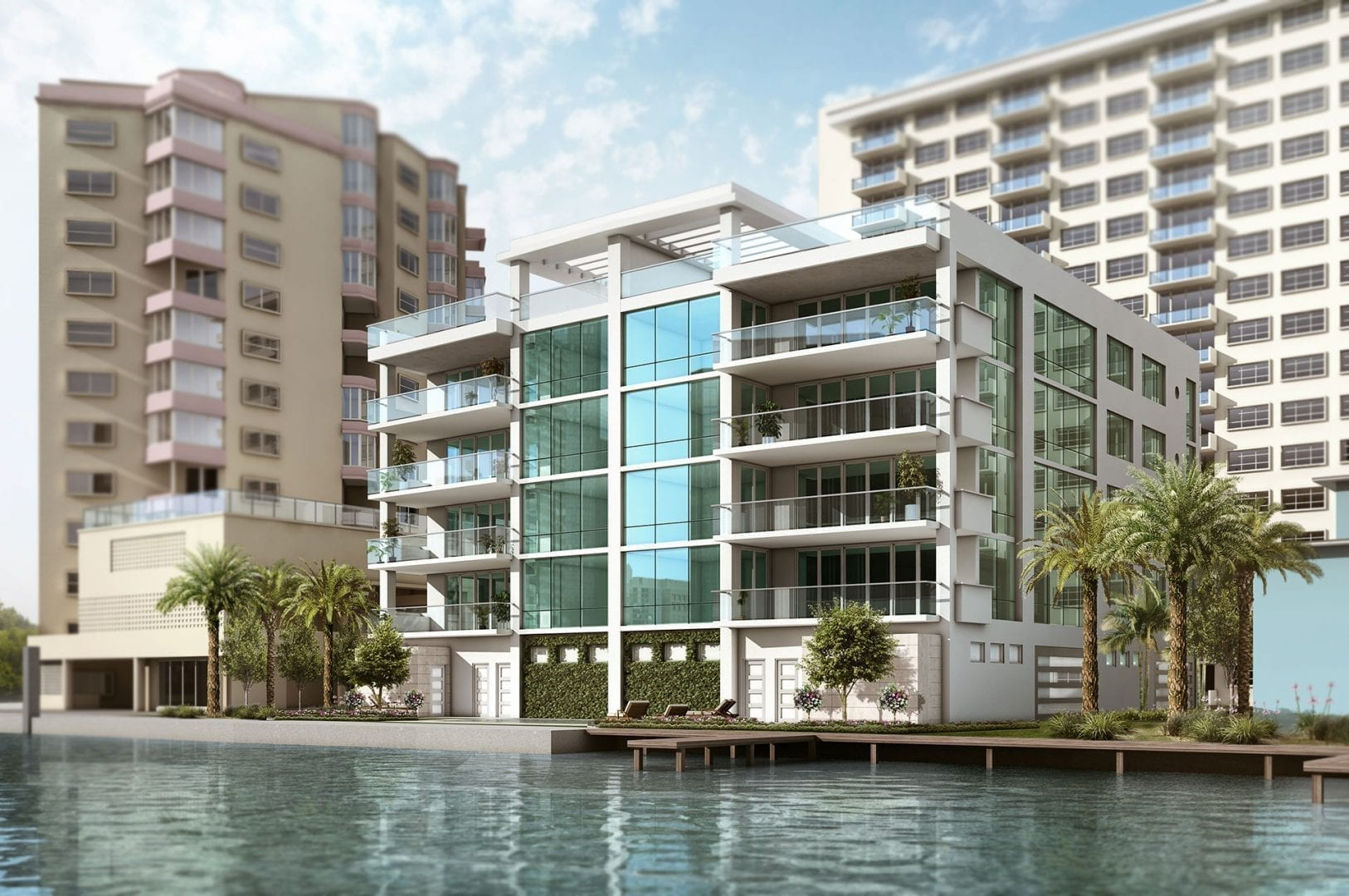 353 Sunset Lake Condos by Robert M. Swedroe Architecture Miami