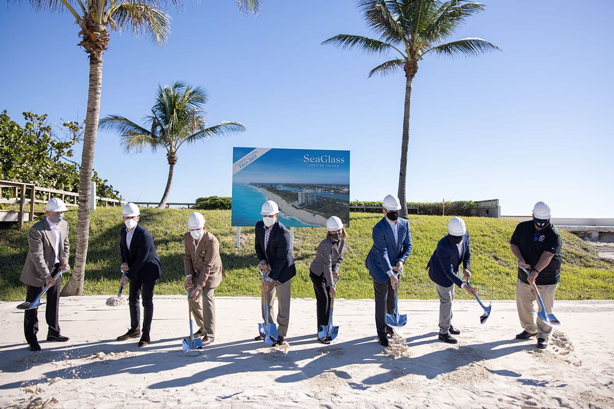 SeaGlass Luxury Condos in Jupiter, Florida Groundbreaking | Designed by Swedroe Architecture