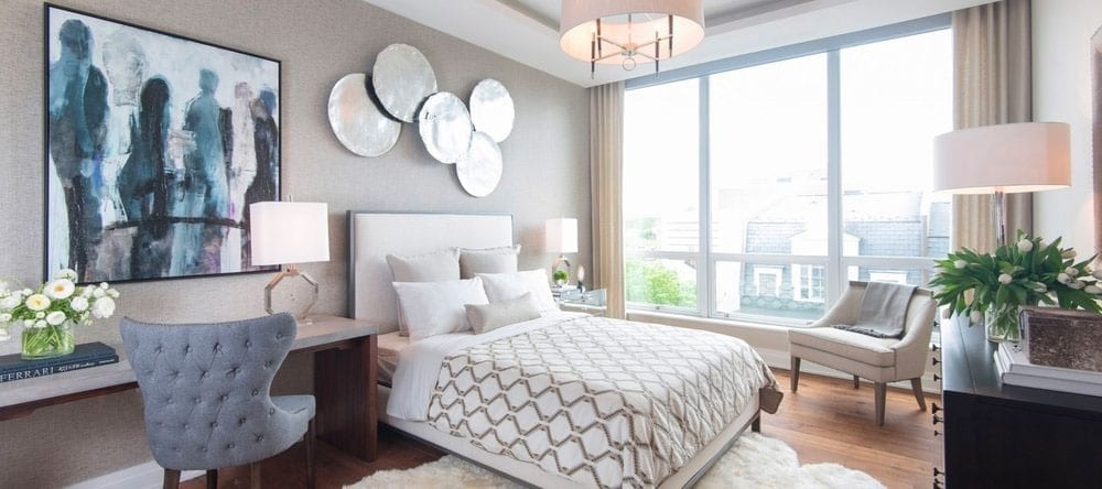 The master bedroom suite has two walk-in closets. (Sarah L. Voisin/The Washington Post)