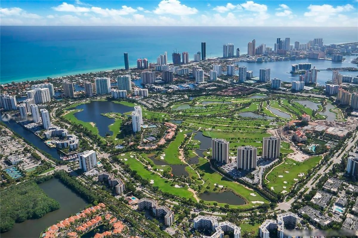 Aventura, Florida with luxury high-rise condos designed by Swedroe Architecture