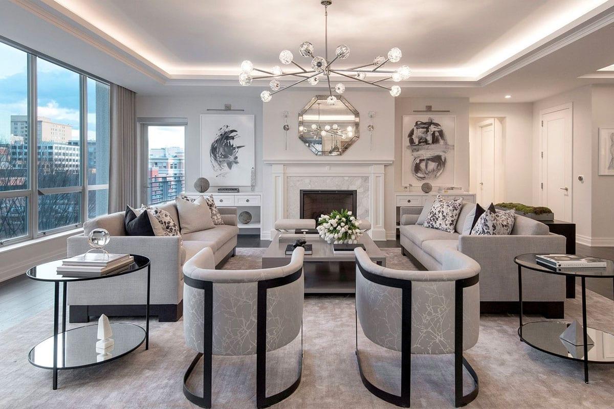 The Lauren Residences Luxury Condo Design - Bethesda - Swedroe Architecture